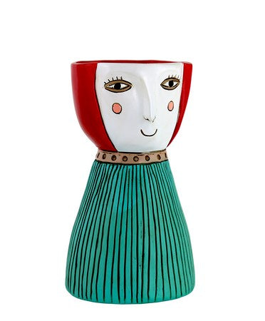 Lady Red Vase Planter