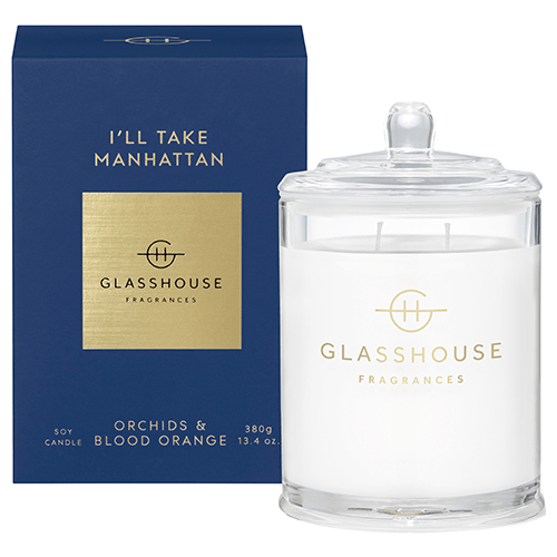 380g Candle - I'LL TAKE MANHATTAN By Glasshouse