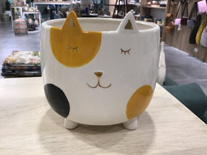Ginger cat planter - Large