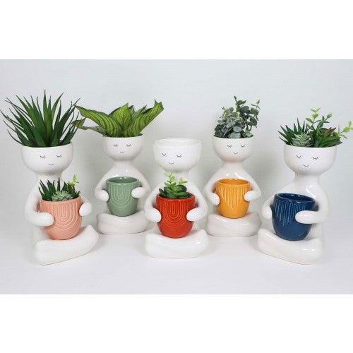 Person Holding Flower Pot Planter