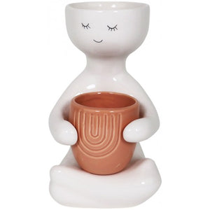 Person Holding a Pot Planter Pink