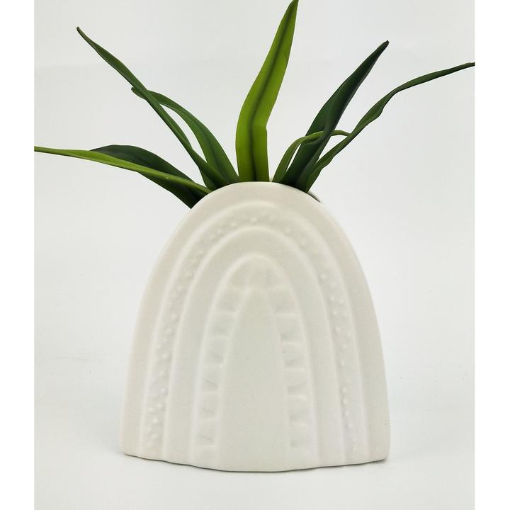 Addie Rainbow Planter White Med 15cm