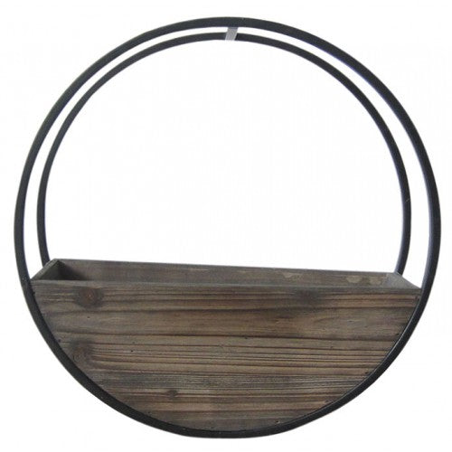 Wooden Wall Planter Full Circle - Small 40cm