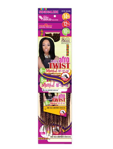 Crochet Senegalese Twist Braids - Medium - 14 Inches