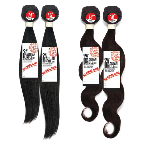 Unprocessed Virgin Brazilian Remy Hair - 9A+ Brazilian Single Bundle