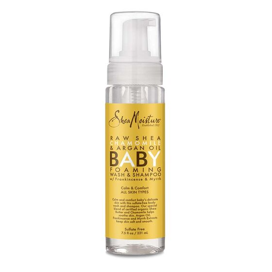 Shea Moisture Raw Shea Chamomile & Argan Oil Baby Foaming Wash and Shampoo