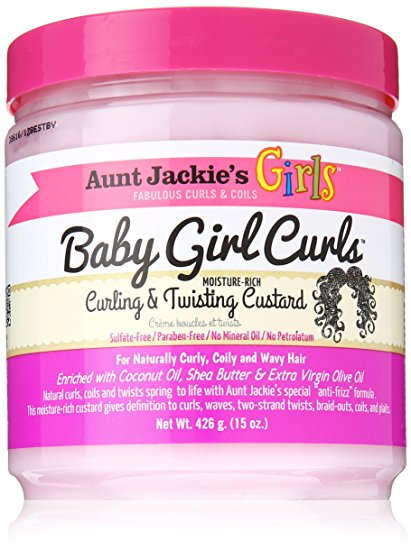 Aunt Jackie's Girls Curling & Twisting Custard 'Baby girl curls'