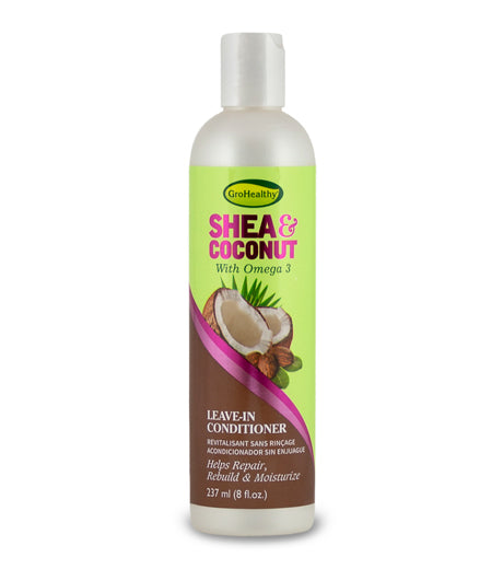 GroHealthy Shea & Coconut Leave-In Conditioner with Omega 3