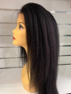 Human Hair Lace Front Afro Kinky Straight Wig