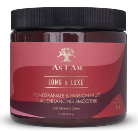 As I Am Long & Luxe Curl Enhancing Smoothie with Pomegranate and Passion Fruit