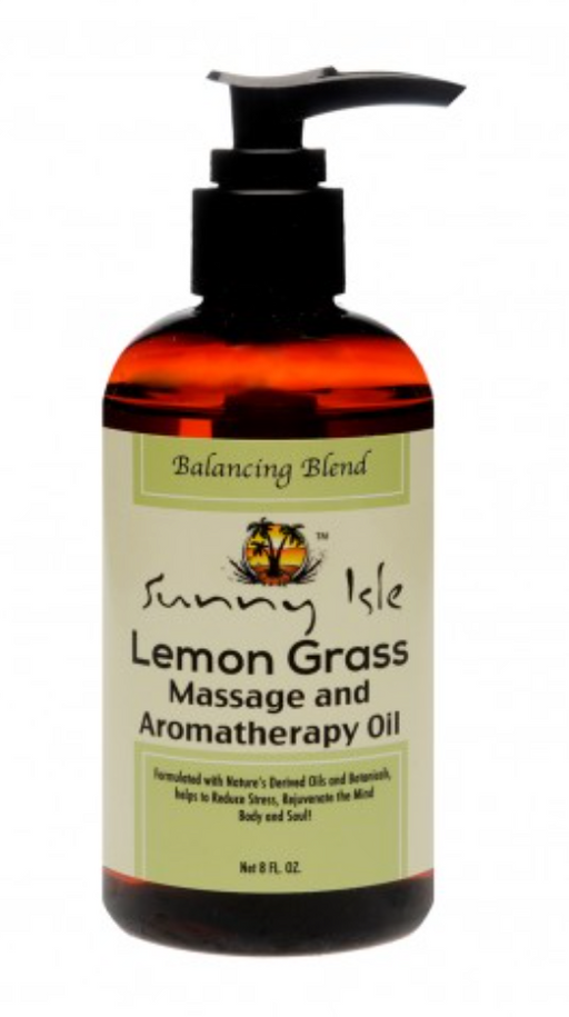 Sunny Isle Lemon Grass Massage and Aromatherapy Oil - Balancing Blend