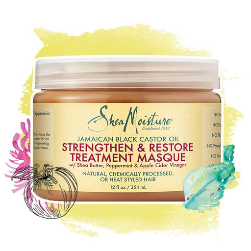 Shea Moisture Jamaican Black Castor Oil Strength, Grow & Restore Treatment Masque