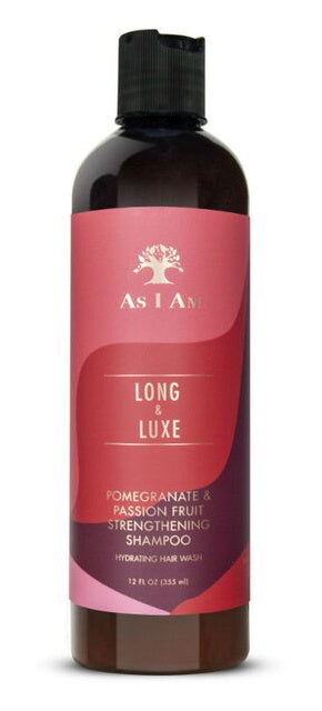 As I Am Long & Luxe Strengthening Shampoo with Pomegranate and Passionfruit