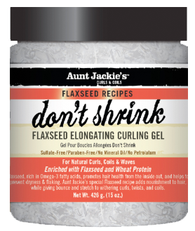 Aunt Jackie's Flaxseed Elongating Curling Gel - 'Don't shrink'
