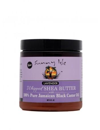 Sunny Isle Lavender Whipped Shea Butter with 100% Pure Jamaican Black Castor Oil
