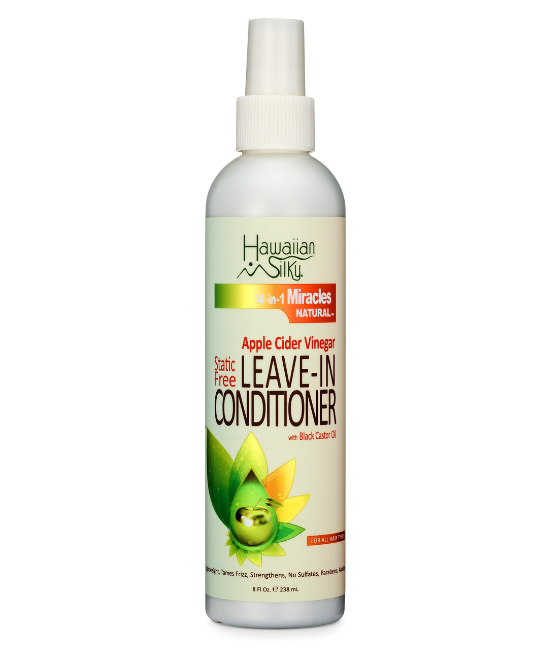 Hawaiian Silky 14-in-1 Miracles Natural Apple Cider Vinegar Static-Free Leave-In Conditioner