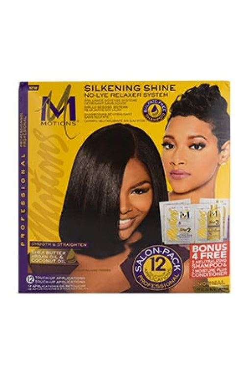 Motions Silkening Shine No-Lye Relaxer System Regular - Salon Pack 12 Touch-Up Applications