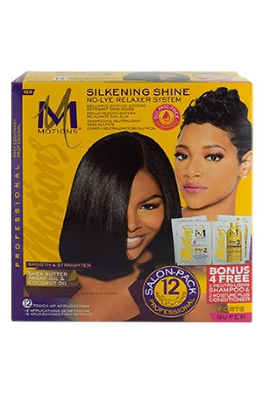 Motions Silkening Shine No-Lye Relaxer System Super - Salon Pack 12 Touch-Up Applications