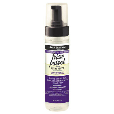 Aunt Jackie's Frizz Patrol Anti-Poof Twist & Curl Setting Mousse