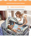 Valdera European Multifunctional Folding Crib