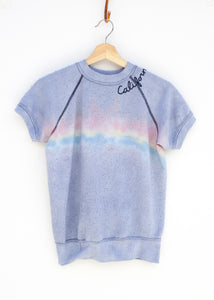 California Tie Dye Shorty Sweatshirt - Bleached Rainbow