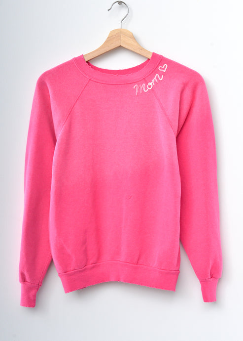 Mom ❤️Sweatshirt-Hot Pink
