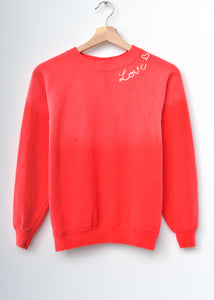 Love ❤️ Sweatshirt- Bright Red