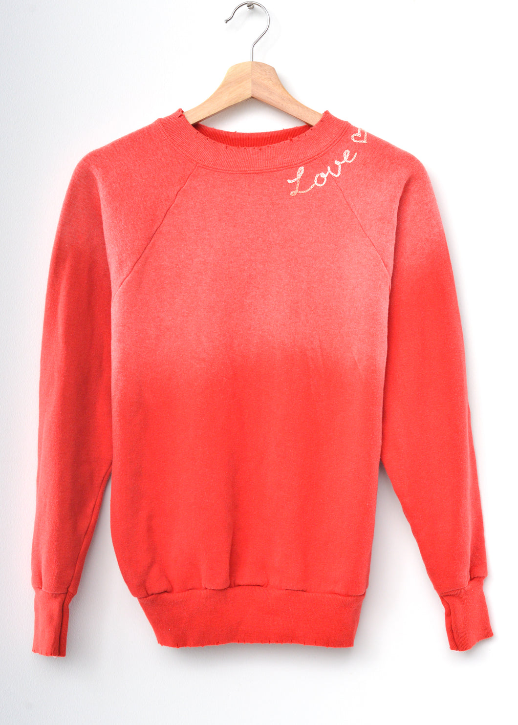 Love ❤️ Sweatshirt- Vintage Red