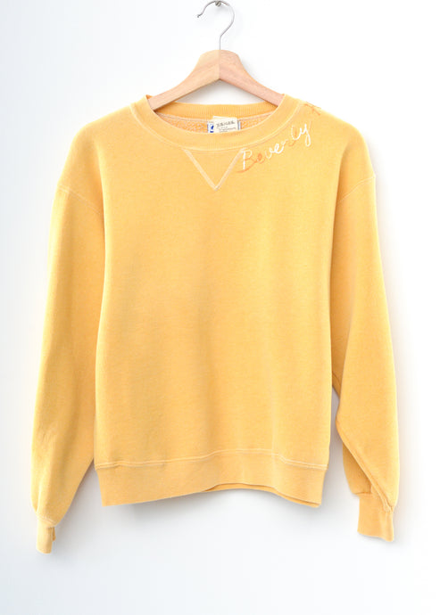 Beverly Hills Vintage Sweatshirt - Yellow Small