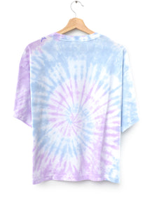 "Coachella Swirl Tie Dyed ""California"" Tee- Lilac Breeze"