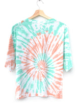 HONEYDEW SWIRL TIE DYE S/S TEE WITH CUSTOM HAND EMBROIDERY