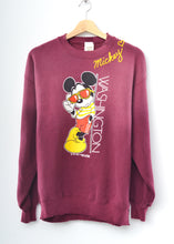 Vintage Washington Mickey & Mickey ❤️ Embroidery Sweatshirt - Merlot