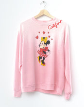 Vintage Minnie Frost Pink Sweatshirt - Customize Your Embroidery Wording