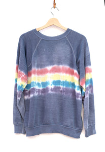 Tie-Dye California Sweatshirt- Washed Out Rainbow