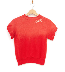 California Shorty Sweatshirt - Mandarin Red