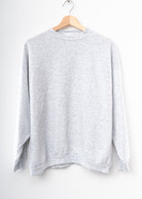 Solid Sweatshirt- Light Grey