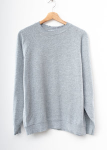 Solid Sweatshirt- Medium Grey