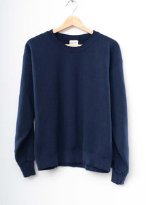 Solid Sweatshirt- Navy