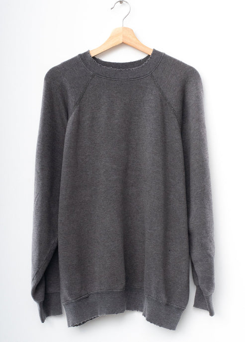 Solid Sweatshirt- Charcoal
