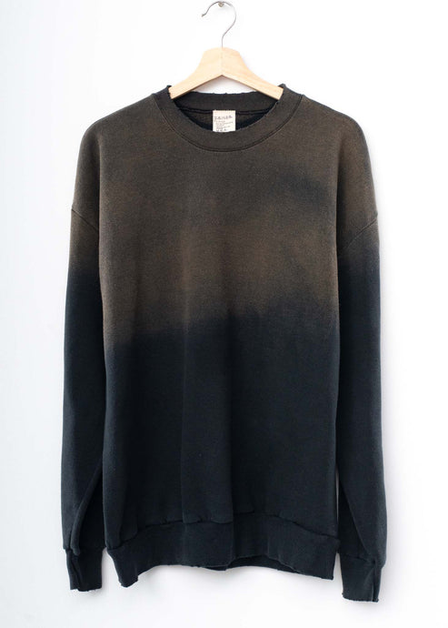 Solid Sweatshirt- Washed Black