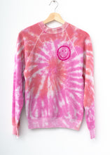 Happy Face Sweatshirt - Pink Swirl