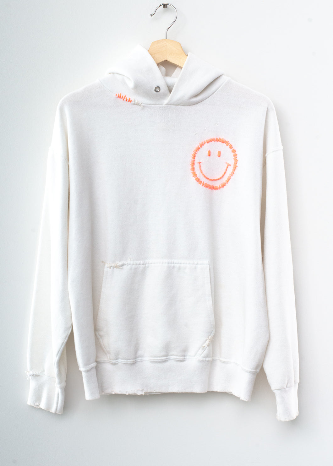 Happy Face Hoodie - Sugar White