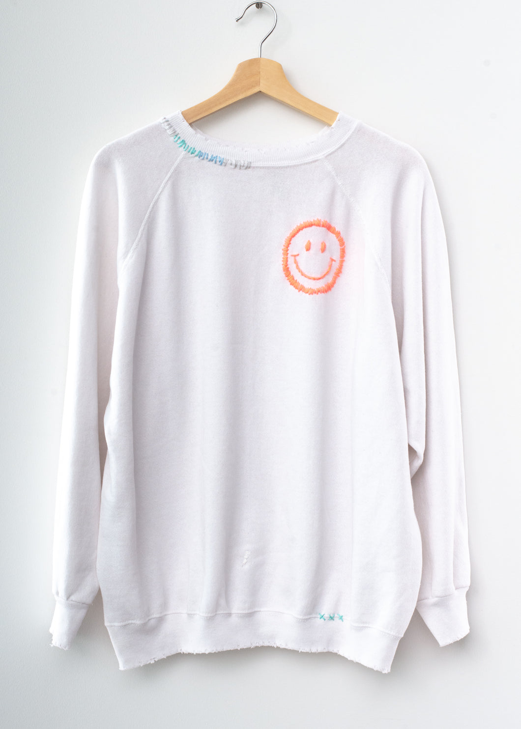 Happy Face Sweatshirt - True White