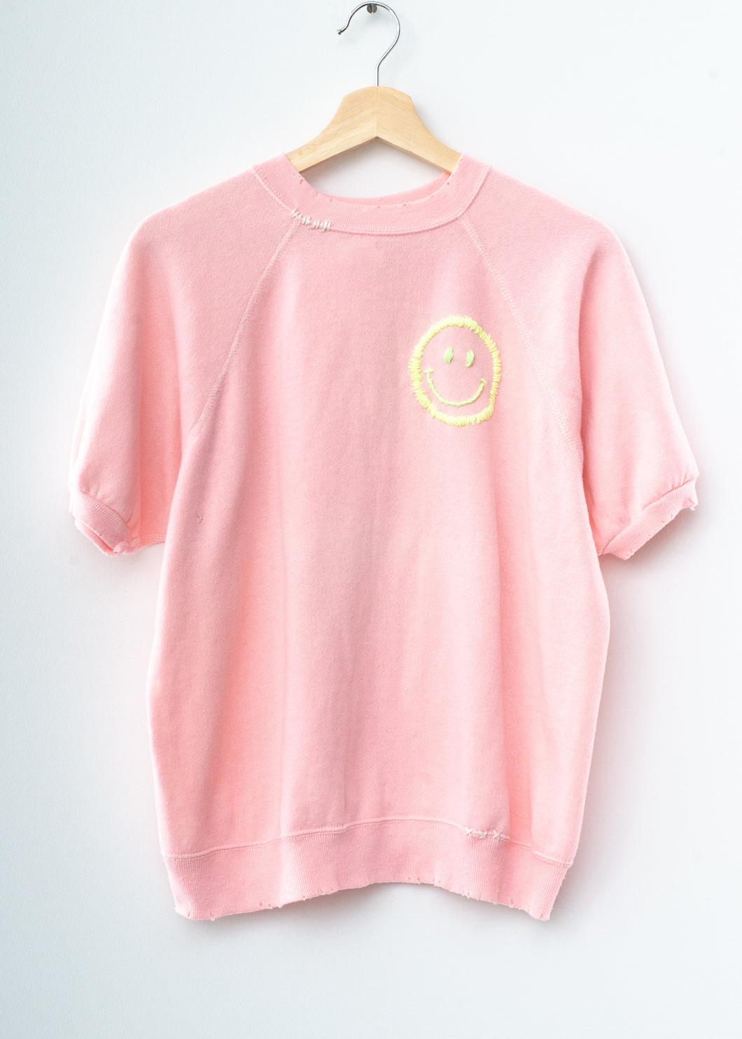 Happy Face Shorty Sweatshirt - Ballet Pink