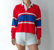 "Vintage Rugby ""2"" Patch Cropped Shirt"
