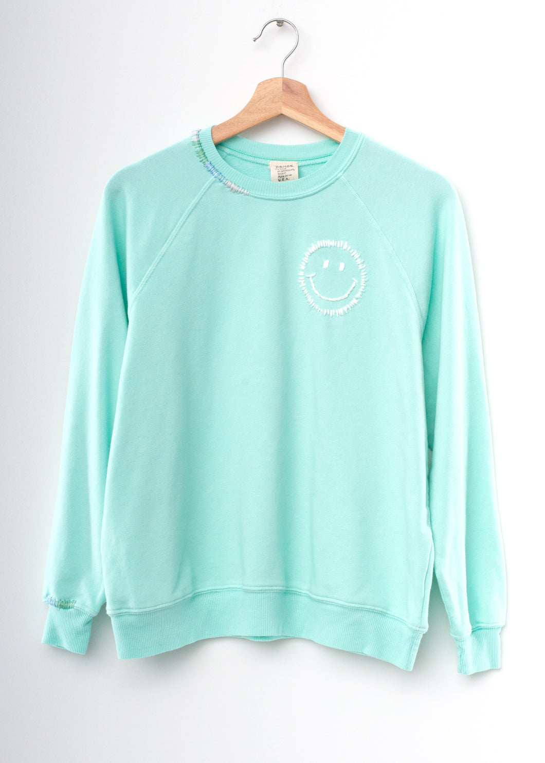 Happy Pastel Sweatshirt- Mint