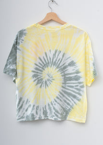 Happy Coachella Swirl Tie Dyed Tee- Lemondrop