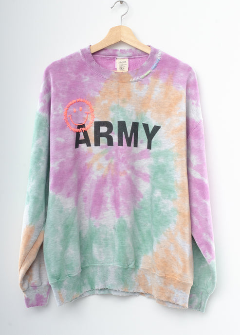 Happy Army Tie Dye Sweatshirt