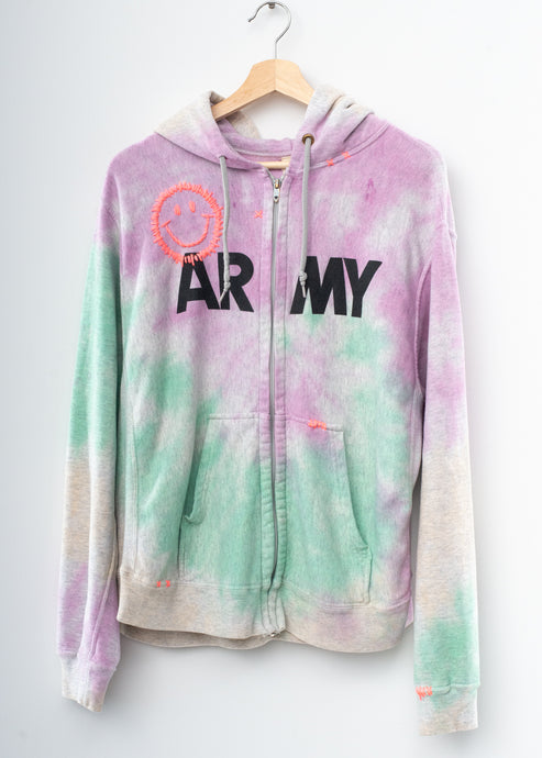Happy Army Tie Dye Zip Up