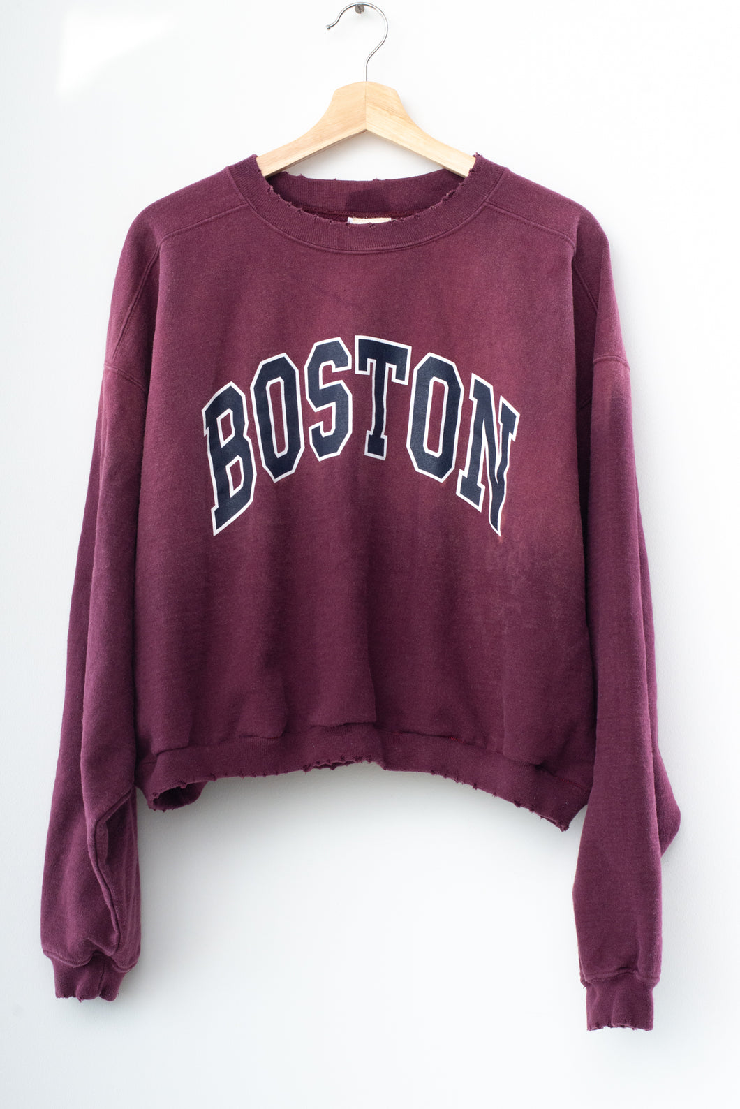 Boston Crop Sweatshirt
